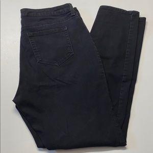 High waisted skinny leg black jeans | Style & Co